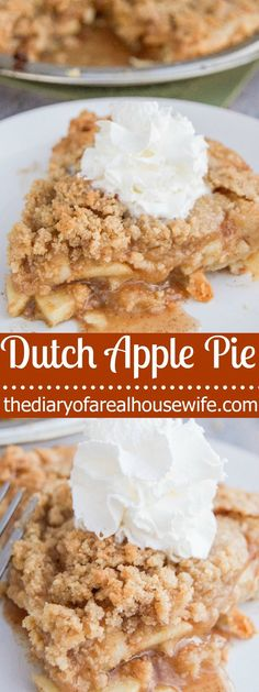 This Dutch Apple Pie is one of my all time favorites. Something about warm apples, brown sugar, and whipped cream that make the perfect combination.