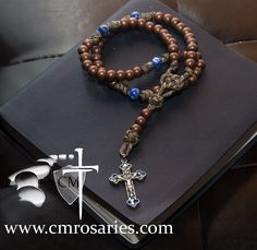 Living Water Paracord Rosary with sodalite gemstone accent beads