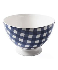 Blue Large Anne Bowl #zulily #zulilyfinds. Large enough for a maconi salad or fruit salad and they have smaller bowls that match.