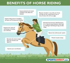 Benefits of horse riding. Another thing I've always wanted to do...