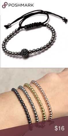 Braided Bracelet  High Quality Jewelry braided woven bracelet. ⛔️ First picture only black color available. ⛔️Second picture only gold color available. Jewelry Bracelets