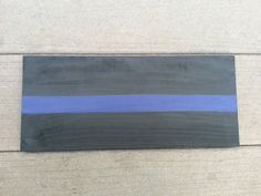 Thin Blue Line Sign by SadieSunflower on Etsy, $10.00