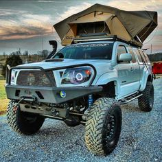 Top 8 Excellent and Powerful Toyota Tacoma Camping Pictures Gallery - Awesome Indoor & Outdoor Toyota Hilux, Toyota Tacoma, Tacoma 4x4, Tacoma Truck, Jeep Truck, Toyota Tundra, Blue Tacoma, Toyota Trucks, Cool Trucks