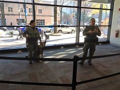 Deputies Lopez and Sherwin conducting a K9 demonstration at Discovery Place.