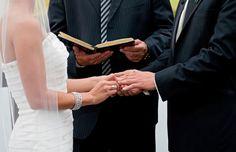 Celebración de boda cristiana.