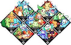 Pixiv Id 1535375, Pokémon, Cyndaquil, Tepig, Popplio, Piplup
