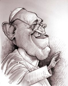 Pope Francis [by Jan Op De Beeck] #Caricature #FunnyFaces