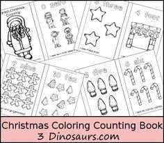 Christmas Coloring Counting Book - Free!