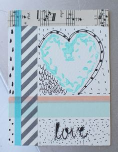 washi tape card tutorial...love the heart stamp!  http://blog.crescendoh.com/