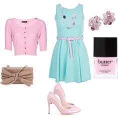 Pink & aqua pastels - perfect for summer girls!
