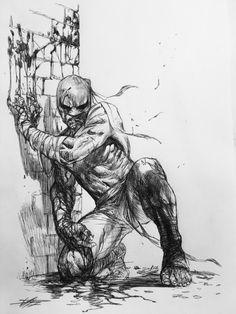 """Iron Fist"" sketch by Gabrielle Dell'Otto Arte Dc Comics, Bd Comics, Marvel Comics Art, Comic Book Artists, Comic Artist, Comic Books Art, Illustrations, Illustration Art, Iron Fist Marvel"