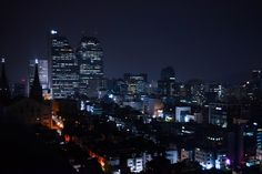 Late night in Gangnam district Seoul [OC] [4896 3264]