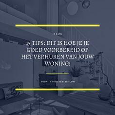 Blog met 15 praktische en bruikbare tips. Zó maak je je woning verhuurklaar en bereid je je goed voor op het verhuren van jouw woning. #woningverhuur #verhuurmakelaar #vve #woningbeheer #vastgoedbeheer #vvebeheer #utrecht #haarlem Serviced Apartments, Rental Apartments, Renting Out Your House, Apartment View, Utrecht, Sit Back And Relax, Rental Property, Property Management, Tours