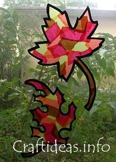fun autumn craft idea. stained glass leaves