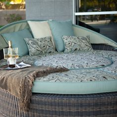 Have to have it. Rendezvous All-Weather Wicker Reversible Cushion Sectional Daybed  $1799.99