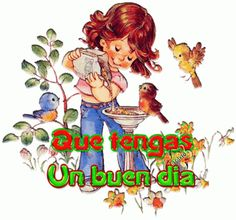 Ornella Muti, Spanish Greetings, Gifs, Cute Birds, Happy Day, Animated Gif, Good Morning, Animation, Fictional Characters