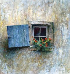 Window - mediterranean - artwork - Tripp Harrison Studio and Gallery Travel Photographie, Through The Window, Window View, Old Doors, Window Boxes, Doorway, Windows And Doors, Casement Windows, Old Windows