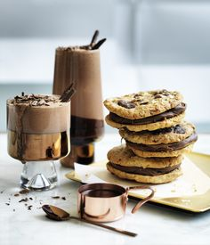 Salted oat and chocolate cookies food photography, food styling