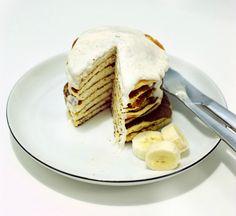Banana Ricotta Pancakes with a hint of Cardamon