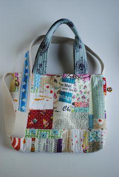 "1/4"" mark: {Messenger bag in patchwork style}"