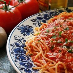 """Sinatra Spaghetti with Italian Tomato Sauce - Frank Sinatra once said, """"Everything I know about cooking, I learned from my mother."""" That included his favorite spaghetti sauce– simple, and fabulously flavorful, reprinted here with permission from Mainliner magazine, which published the recipe in 1973. Mrs. """"Dolly"""" Martin Anthony Sinatra lived in a home Frank built for her on the grounds of his Palm Springs estate, so if Frank needed any cooking tips, he had only to ask."""