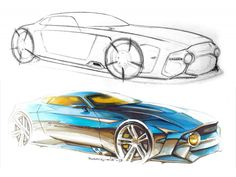 Tutorial Link: Sketchover #8 – Car rendering with markers and pencils  by Aurélien François from Local Motors
