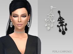 Sims 4 Updates: TSR - Accessories, Jewelry : Perla Earrings by Grafity Sims, Custom Content Download!