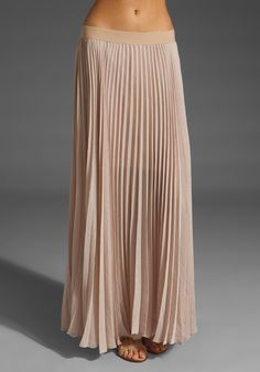 BCBGMAXAZRIA Pleated Maxi Skirt in Allure at Revolve Clothing - Free Shipping!