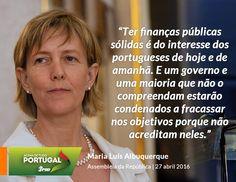 Maria Luís Albuquerque, Vice-Presidente do Partido Social Democrata, no debate do Programa de Estabilidade e do Programa Nacional de Reformas. #PSD #acimadetudoportugal