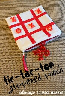 Valentine's Day Tic-Tac-Toe in a Zippered Pouch - Always Expect Moore