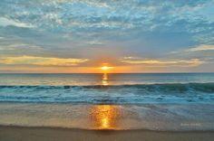 Outer Banks NC Local Artists Facebook post 7/14/15:  Sunrise @ Kill Devil Hills.  Photographer credit: Barbara Ann Jump-Bell.