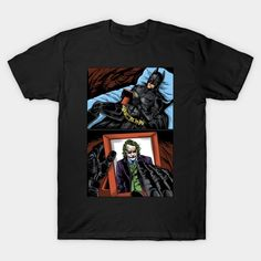 I MISS YOU, DEAR ENEMY T-Shirt - Batman/Joker T-Shirt is $13 today at TeePublic! Joker T Shirt, Batman T Shirt, Batman Stuff, I Missed, I Miss You, Fan, Mens Tops, Shirts, I Miss U