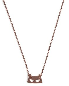 Rose Gold Cat Necklace - kitty cat mask (reminds me of a Catwoman costume!)