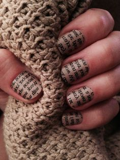 Jamberry nails Newspaper on Neutral #jamberrynails #newspaperonneutralJN Purchase at allisonhertzner.jamberrynails.net