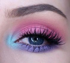 Simple pastel eye makeup