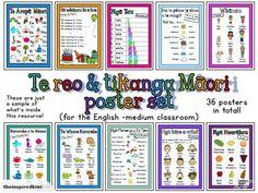 Teaching Resources: Te Reo & Tikanga Maori Posters | Trade Me