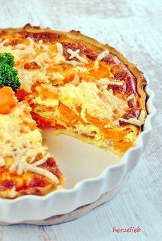 Möhrentarte ist ein leckeres Essen für Kleinkinder Quiches, Go Veggie, Fiber Rich Foods, Easter Recipes, Food Items, Food Network Recipes, Kids Meals, Love Food, Vegetarian Recipes