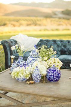Preppy decor: http://www.stylemepretty.com/california-weddings/san-luis-obispo/2015/05/15/california-winery-wedding-inspiration/   Photography: Mike Larson - http://mikelarson.com/