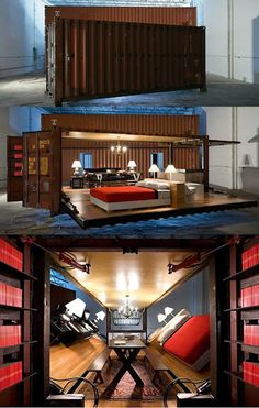 Whoa, shipping container room
