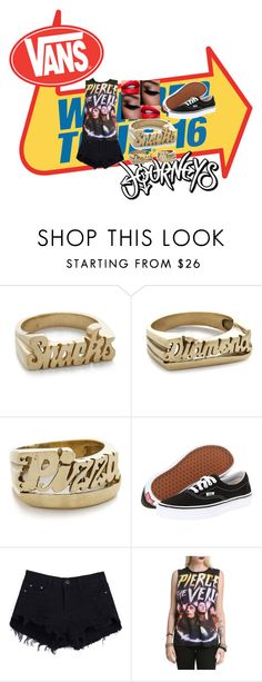 """""""warped tour 16"""" by blackveilrose ❤ liked on Polyvore featuring Snash Jewelry, Vans, warpedtour, emo, piercetheveil and 2016"""