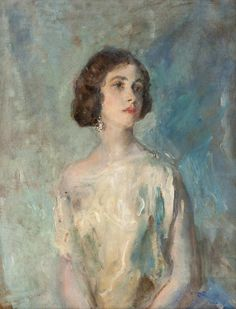 ♀ Painted Art Portraits ♀  Ambrose McEvoy | Elizabeth Johnson