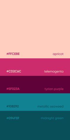 Color Inspirations by Mehdi ( Rgb Palette, Neon Colour Palette, Pantone Colour Palettes, Theme Color, Color Palate, Colour Schemes, Pantone Color, Color Patterns, Couleur Html