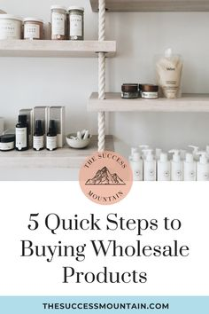 Ready to start buying wholesale? Learn about wholesale products, tips & tricks on getting accounts, finding products & calculating pricing!