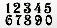 Victorian Graffiti Fonts Numbers