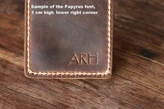 PERSONALIZED WALLET  Leather Wallet with Money Clip  by JooJoobs, $39.50