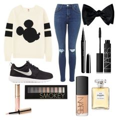 Untitled #3 by kartseva-ana on Polyvore featuring polyvore, fashion, style, Uniqlo, NIKE, Forever 21, NARS Cosmetics, Marc Jacobs, Chanel and By Terry