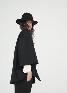 black coat black hat