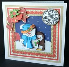 Happy Christmas Snowman Snuggles on Craftsuprint - View Now!