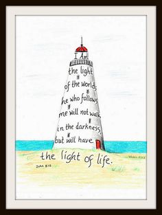 This lighthouse design was inspired by a scripture from the Bible. It is from…