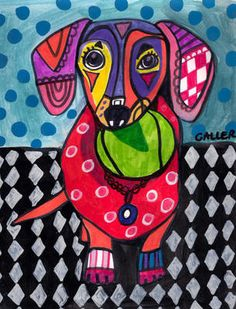 Off - Dachshund ART Dog doxie Art Print Poster of Painting Pop Art, Dachshund Art, Daschund, Dog Poster, Ecole Art, Poster Prints, Art Prints, Panel Art, Dog Paintings